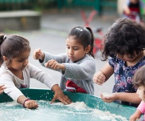 Messy play at Newtown Pre-school