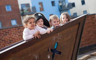Playing at Woolston Nursery