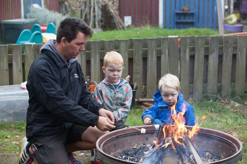 Campfire at Whale Island Nursery