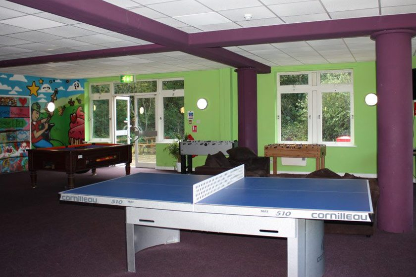 The games room at our Basingstoke housing.