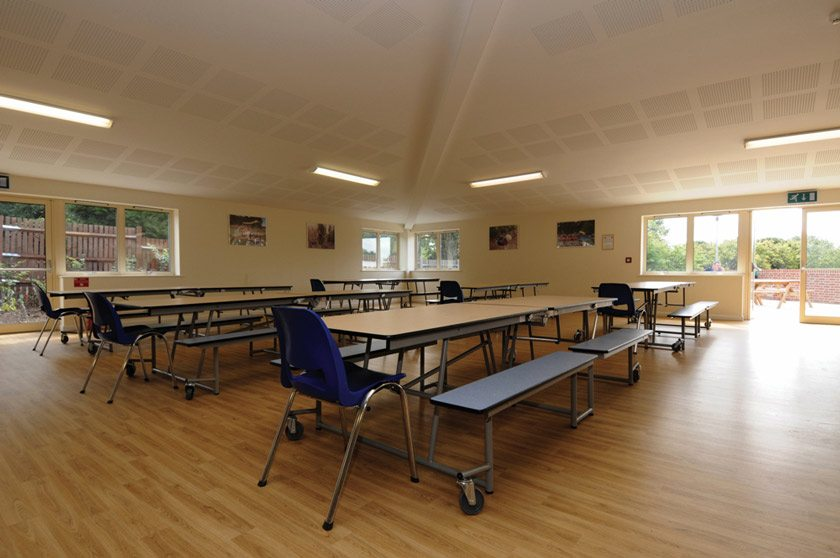 The dining room used for some of our residential camps.