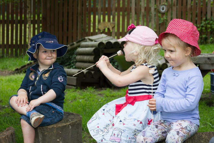 Fairthorne Manor ; Fairthorne Manor Nursery; Badgers ; Marshmallows ; Campfire ; Sunhats ; Toddlers