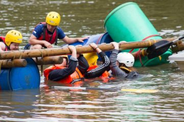 Fairthorne Manor; Raft Building ; Water Activities; School Groups ; Daycamps