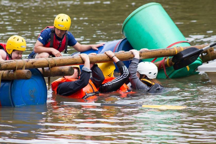 Fairthorne Manor; Raft Building ; Water Activities; School Groups ; Daycamps