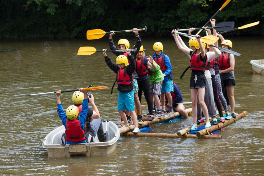 Fairthorne Manor; Raft Building ; Water Activities; School Groups ; Daycamps ; Triumph ; Success