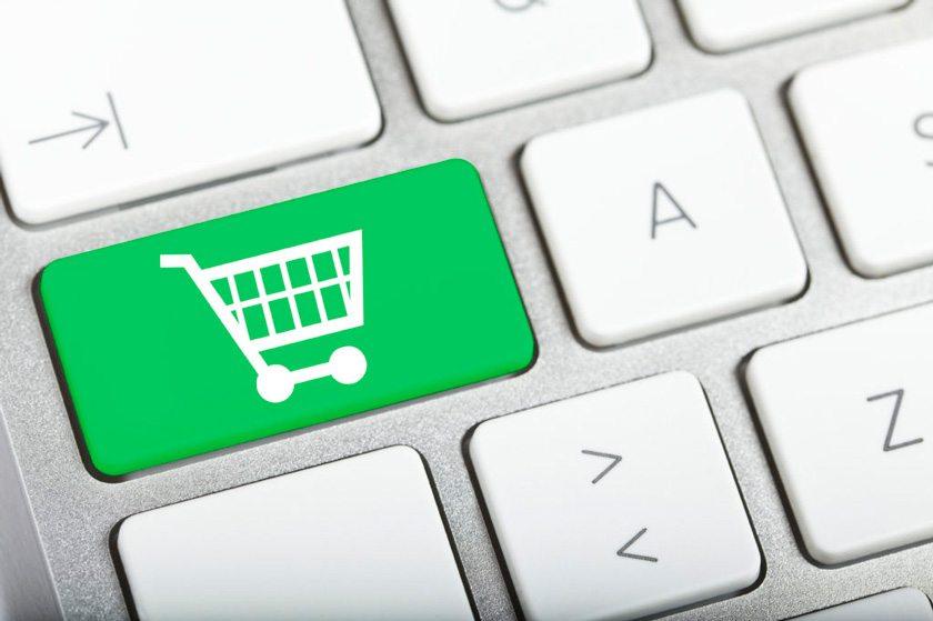 Shopping Cart key on a keyboard.