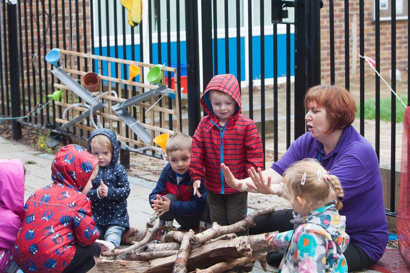 Campfire at Portsea Nursery