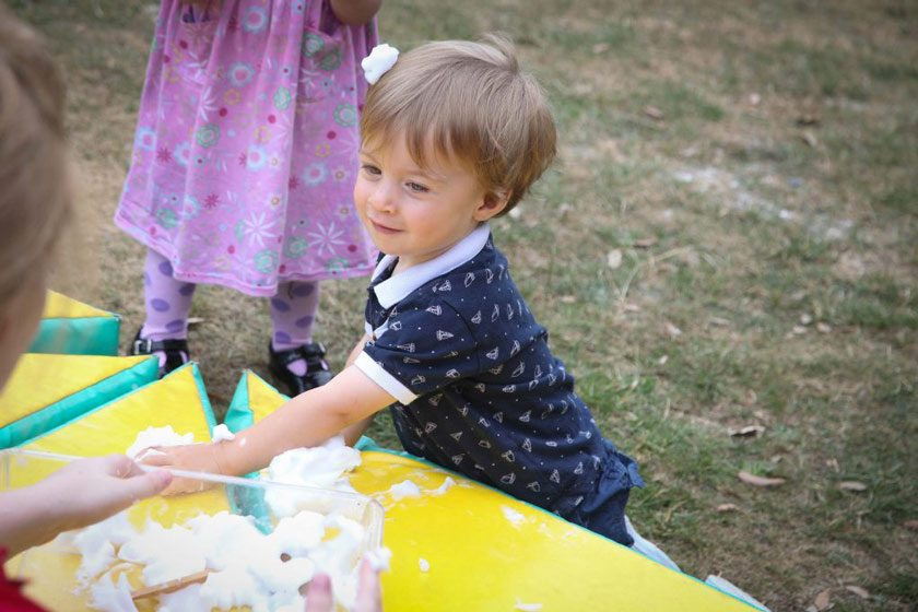 Outdoor play at Shanklin Nursery